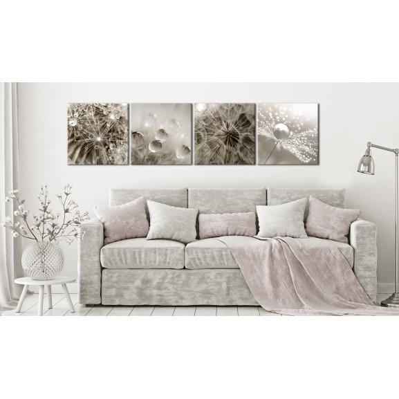Tablou Grey Dandelion 40 cm x 40 cm naturlich.ro