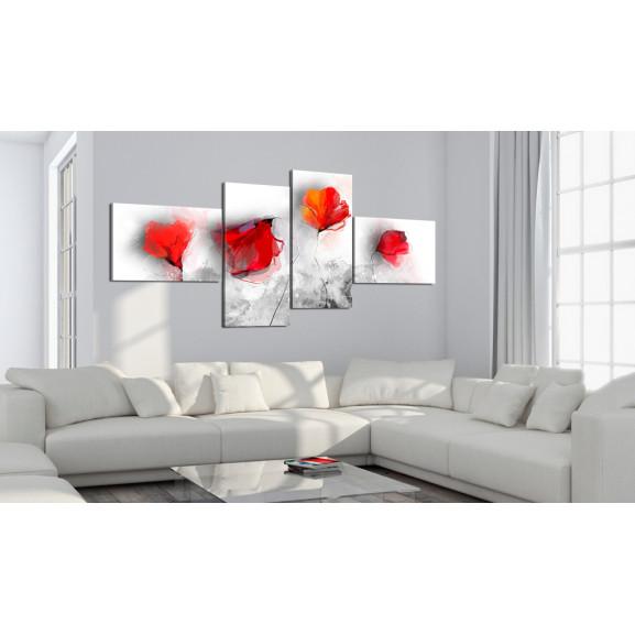 Tablou Sentimental Poppies 100 cm x 45 cm naturlich.ro