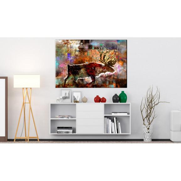 Tablou Colourful Caribou 120 cm x 80 cm naturlich.ro