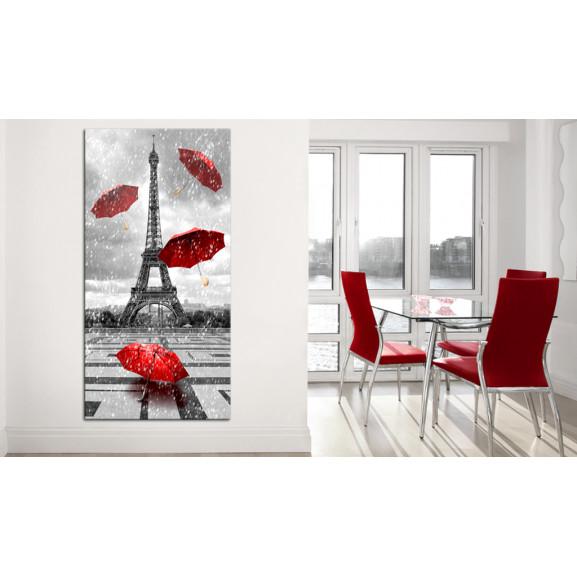 Tablou Paris: Red Umbrellas 60 cm x 120 cm naturlich.ro
