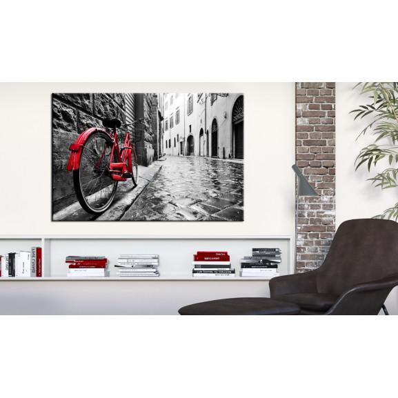 Tablou Vintage Red Bike 120 cm x 80 cm naturlich.ro