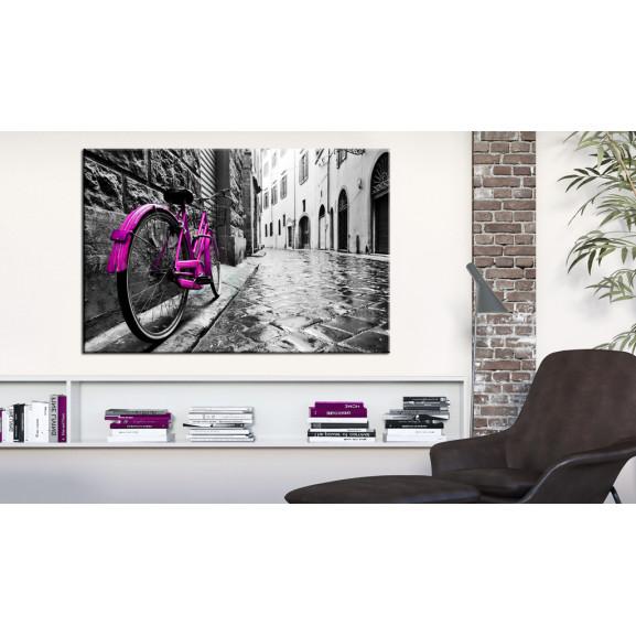 Tablou Vintage Pink Bike 120 cm x 80 cm naturlich.ro