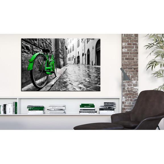 Tablou Vintage Green Bike 120 cm x 80 cm naturlich.ro