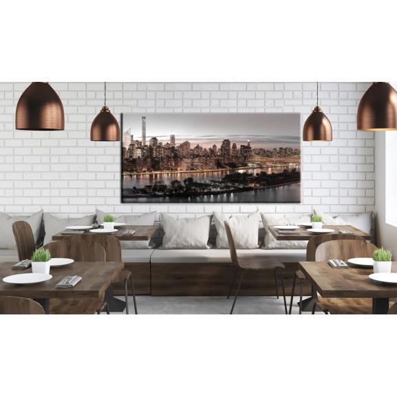 Tablou Manhattan At Twilight 120 cm x 60 cm naturlich.ro
