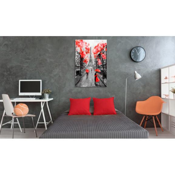 Tablou Paris: The City Of Love 60 cm x 90 cm naturlich.ro