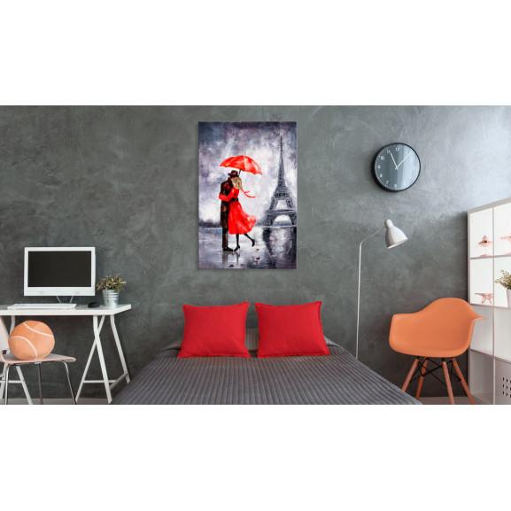 Tablou Love In Paris 60 cm x 90 cm naturlich.ro