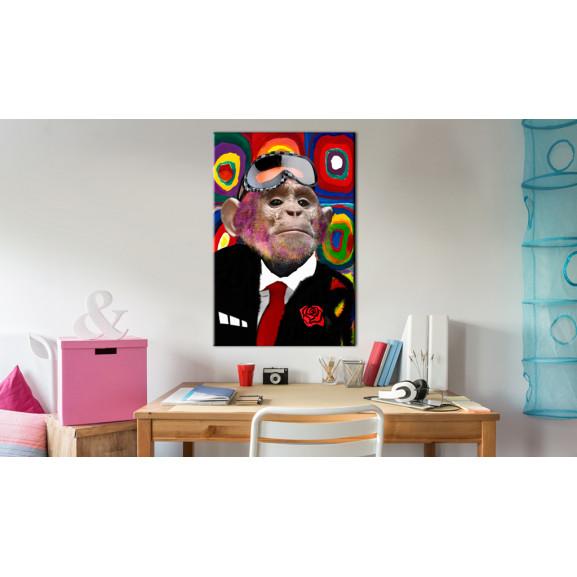 Tablou Mr. Monkey 60 cm x 90 cm naturlich.ro