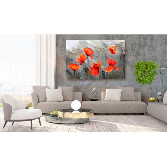 Tablou Poppies (Watercolour) 120 cm x 80 cm naturlich.ro