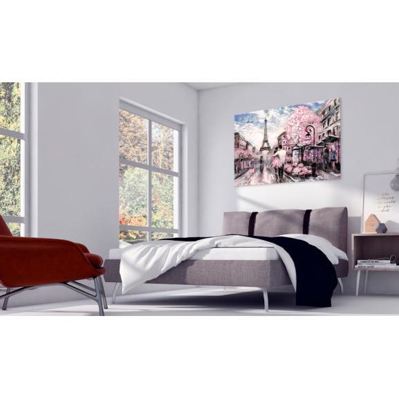 Tablou Pink Paris 120 cm x 80 cm naturlich.ro