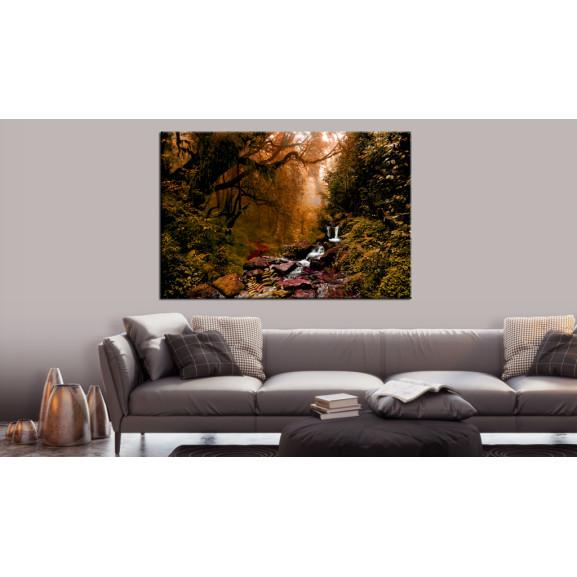 Tablou Autumn Waterfall 120 cm x 80 cm naturlich.ro