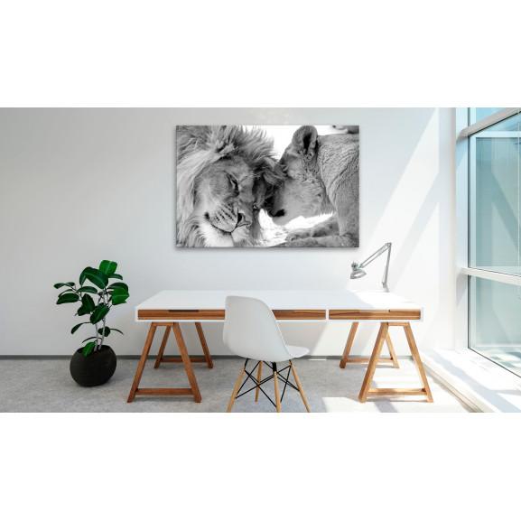 Tablou Lion'S Love 120 cm x 80 cm naturlich.ro