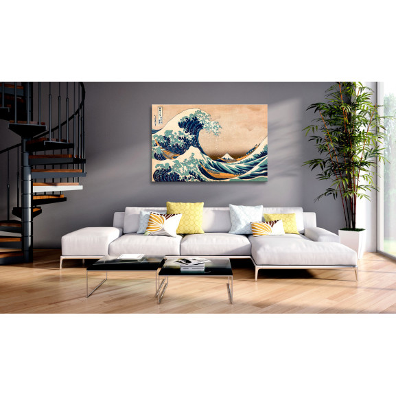 Tablou The Great Wave Off Kanagawa (Reproduction) 120 cm x 80 cm naturlich.ro