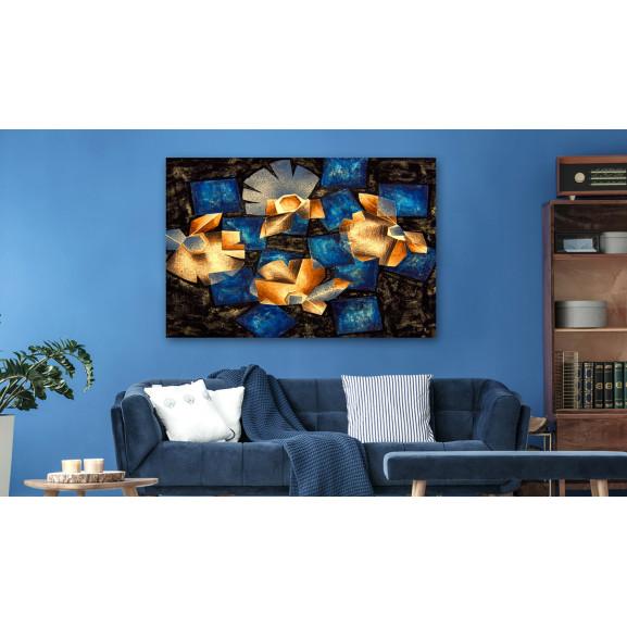 Tablou Geometrical Flowers 120 cm x 80 cm naturlich.ro