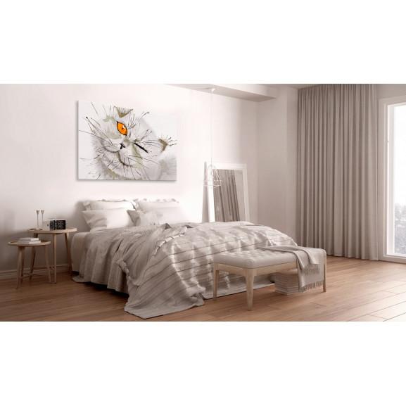 Tablou Grey Cat 120 cm x 80 cm naturlich.ro
