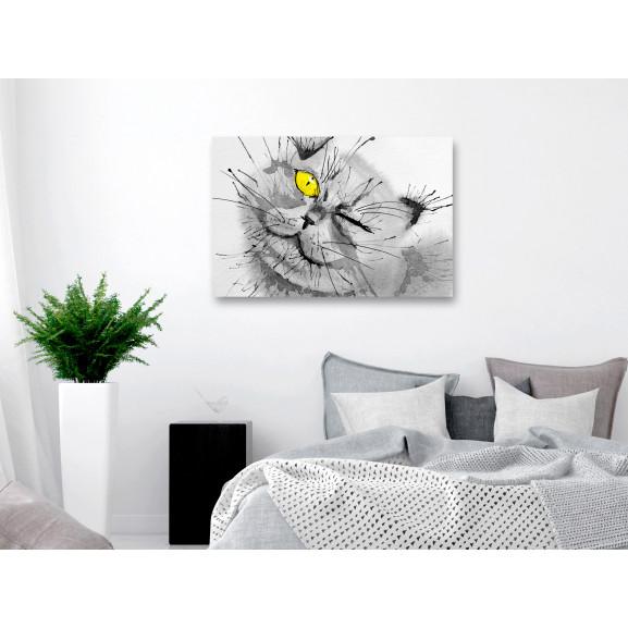 Tablou Happy Look (1 Part) Wide Yellow 120 cm x 80 cm naturlich.ro