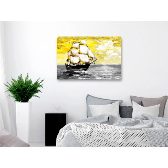 Tablou Spring Cruise (1 Part) Wide Yellow 120 cm x 80 cm naturlich.ro