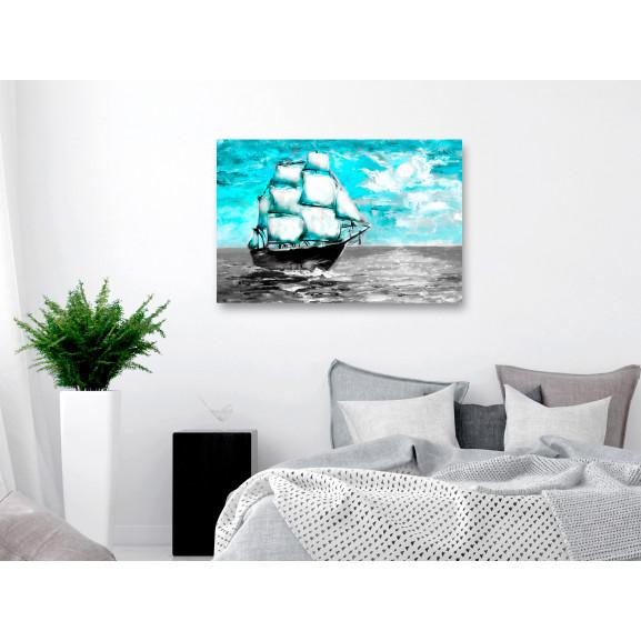 Tablou Spring Cruise (1 Part) Wide Blue 120 cm x 80 cm naturlich.ro