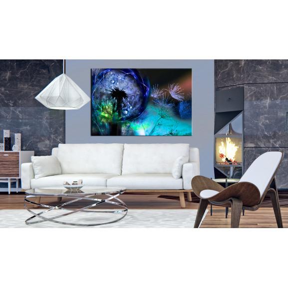 Tablou Dandelions: Blue Glow 120 cm x 80 cm naturlich.ro