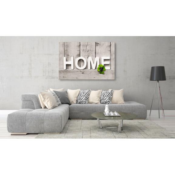 Tablou Happy Home 120 cm x 80 cm naturlich.ro