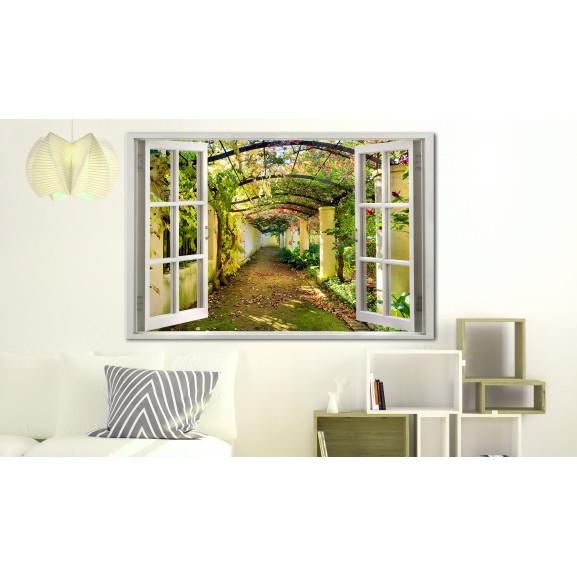 Tablou Window: View On Pergola 120 cm x 80 cm naturlich.ro