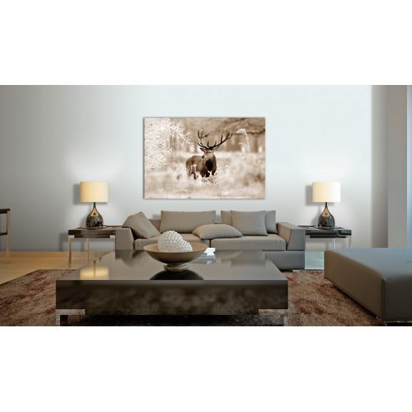 Tablou Deer In Sepia 120 cm x 80 cm naturlich.ro