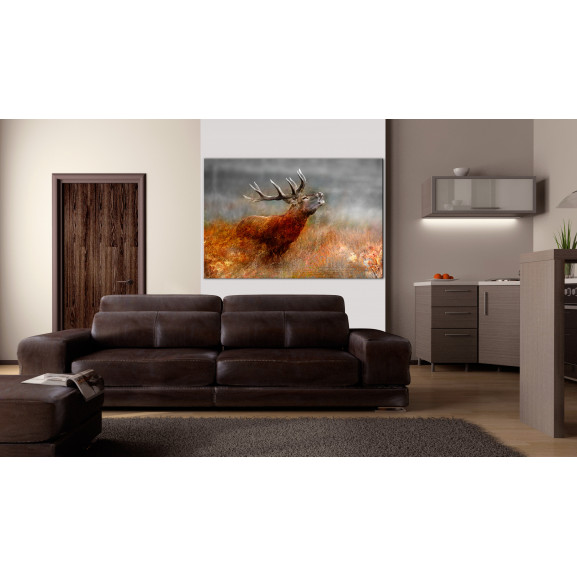 Tablou Roaring Deer 120 cm x 80 cm naturlich.ro
