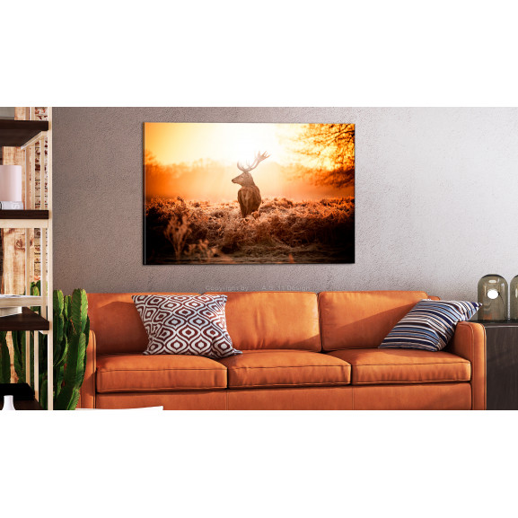 Tablou Deer In The Sun 120 cm x 80 cm naturlich.ro