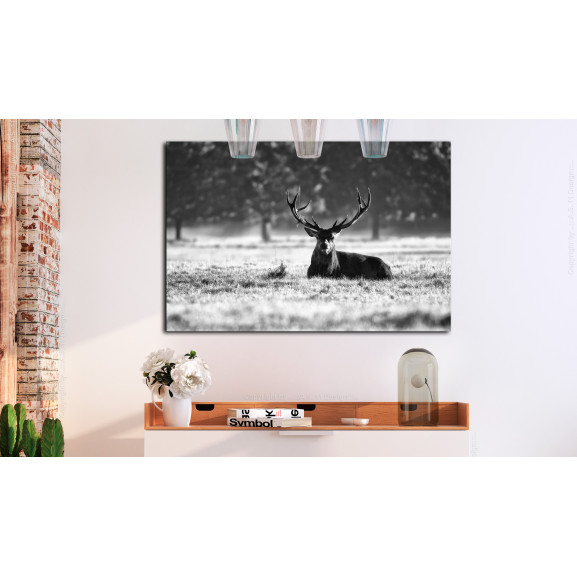 Tablou Lying Deer 120 cm x 80 cm naturlich.ro