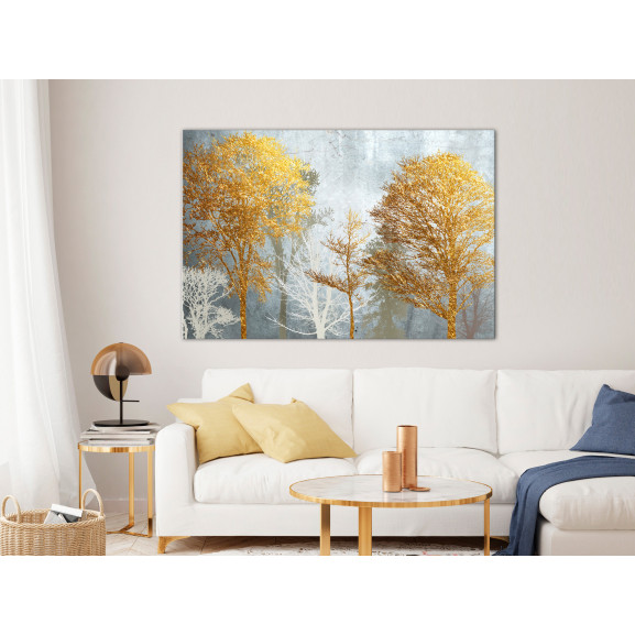 Tablou Hoarfrost And Gold (1 Part) Wide 120 cm x 80 cm naturlich.ro