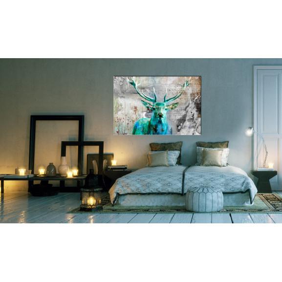 Tablou Green Deer 120 cm x 80 cm naturlich.ro