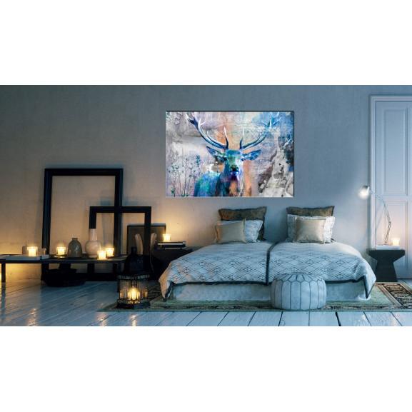 Tablou Blue Deer 120 cm x 80 cm naturlich.ro