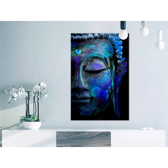 Tablou Blue Buddha 60 cm x 90 cm naturlich.ro
