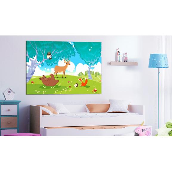 Tablou Friendly Animals (1 Part) Wide 120 cm x 80 cm naturlich.ro