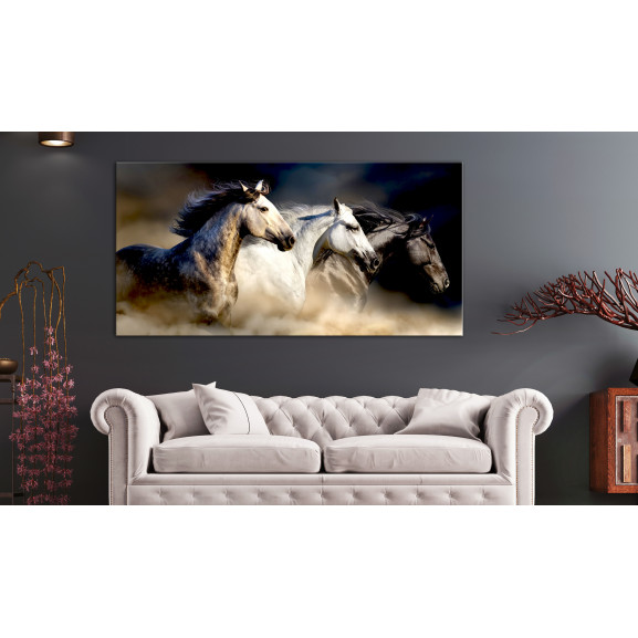 Tablou Sons Of The Wind (1 Part) Wide 120 cm x 60 cm naturlich.ro