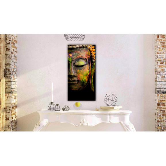 Tablou Buddha'S Face 40 cm x 80 cm naturlich.ro