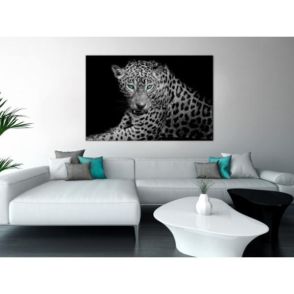 Tablou Leopard Portrait (1 Part) Wide 120 cm x 80 cm naturlich.ro