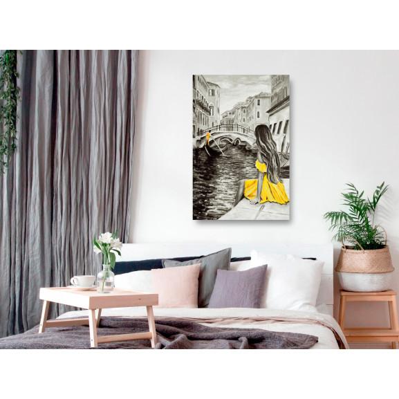 Tablou Far Dreams (1 Part) Vertical Yellow 60 cm x 90 cm naturlich.ro