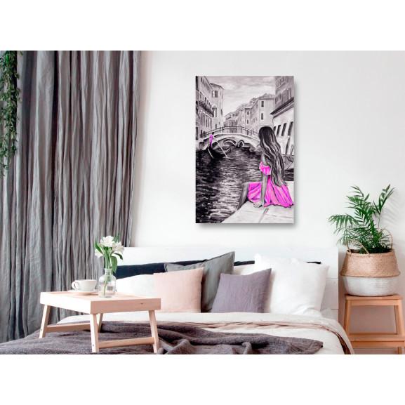 Tablou Far Dreams (1 Part) Vertical Pink 60 cm x 90 cm naturlich.ro