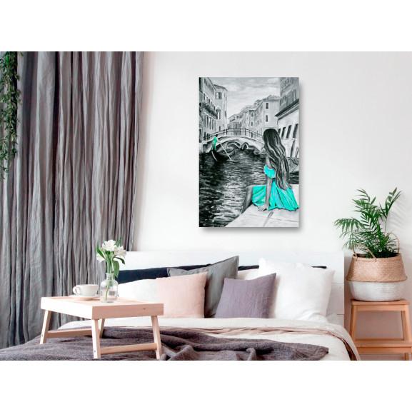Tablou Far Dreams (1 Part) Vertical Blue 60 cm x 90 cm naturlich.ro