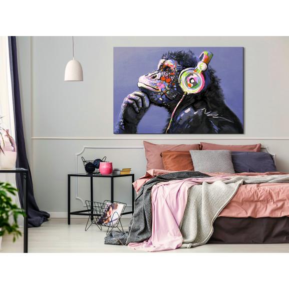 Tablou Musical Monkey (1 Part) Wide 120 cm x 80 cm naturlich.ro