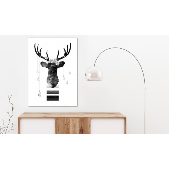 Tablou Abstract Antlers (1 Part) Vertical 40 cm x 60 cm naturlich.ro