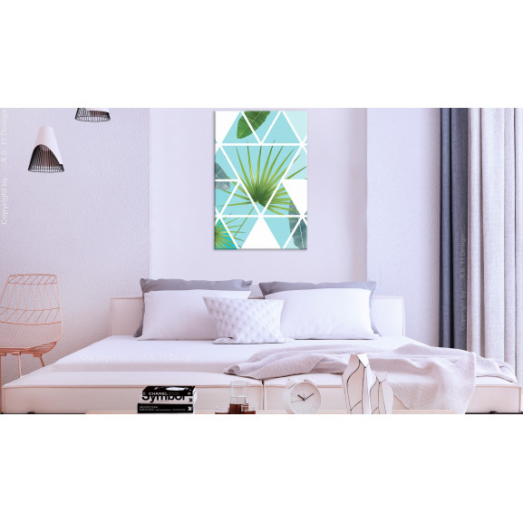 Tablou Geometric Palm (1 Part) Vertical 40 cm x 60 cm naturlich.ro