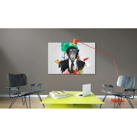 Tablou Mr Monkey 120 cm x 80 cm naturlich.ro