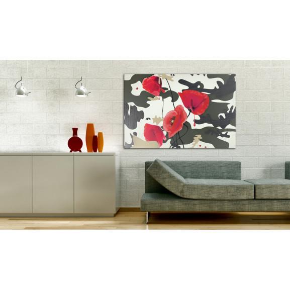Tablou War Paint 120 cm x 80 cm naturlich.ro