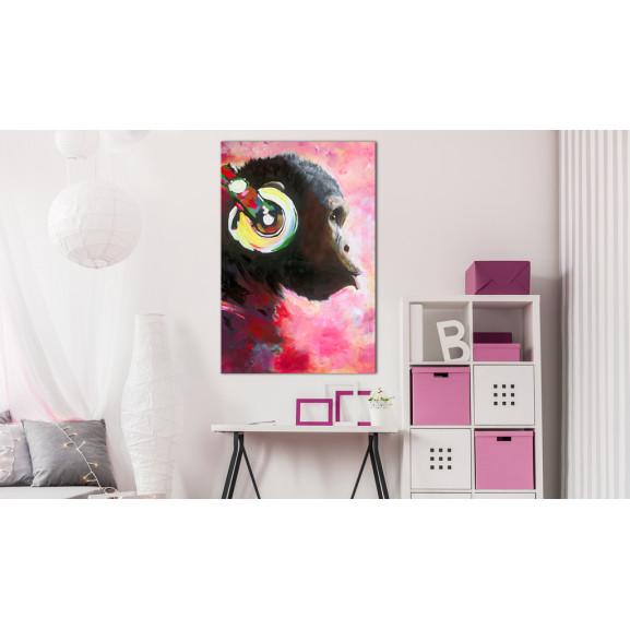 Tablou Monkey Music 40 cm x 60 cm naturlich.ro