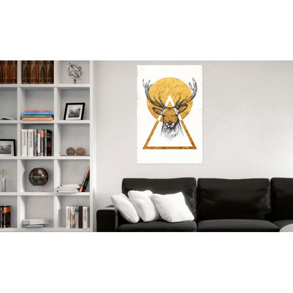 Tablou My Home: Golden Deer 40 cm x 60 cm naturlich.ro