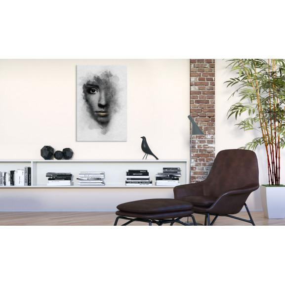 Tablou Grey Portrait 40 cm x 60 cm naturlich.ro