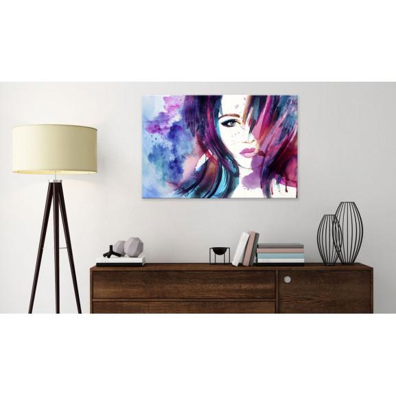 Tablou Watercolor Girl 120 cm x 80 cm naturlich.ro