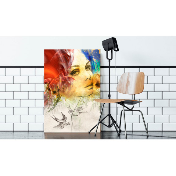 Tablou Fiery Lady 40 cm x 60 cm naturlich.ro