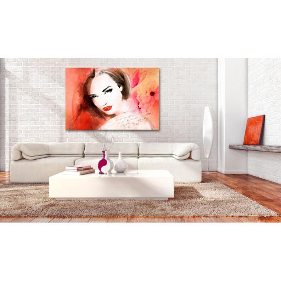 Tablou Crimson Lady 120 cm x 80 cm naturlich.ro